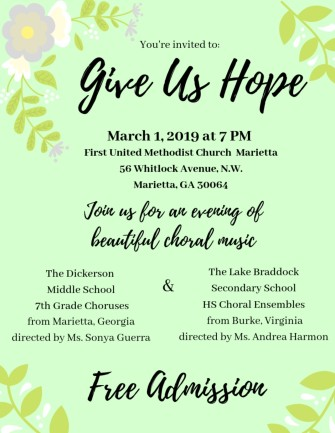 """Collaborative """"Give Us Hope"""" Concert 